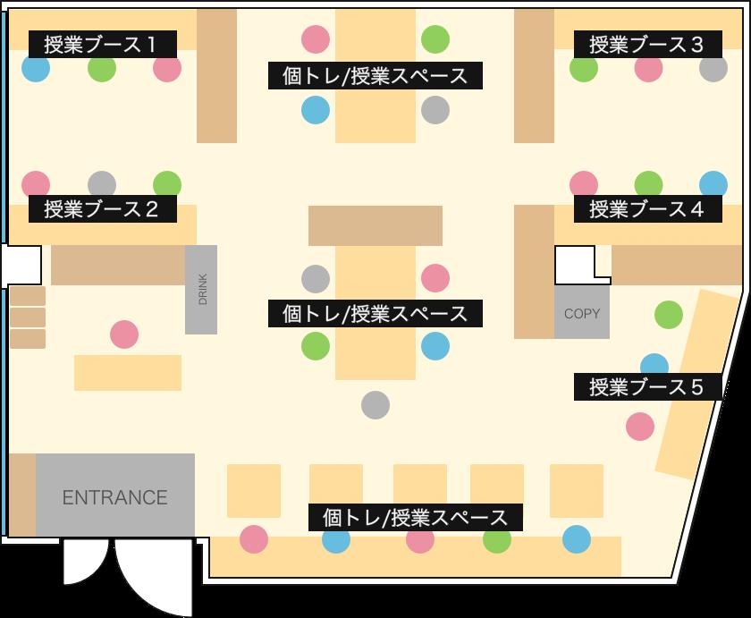 教室の平面図