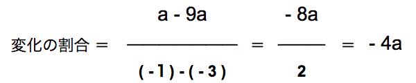 変化の割合の計算