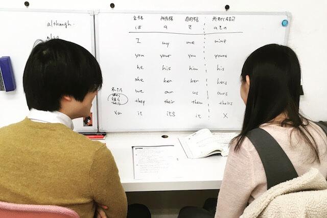 個別指導の英語の授業